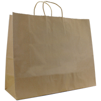 Natural Paper Extra Wide Kraft Paper Shopper Bag Thumb