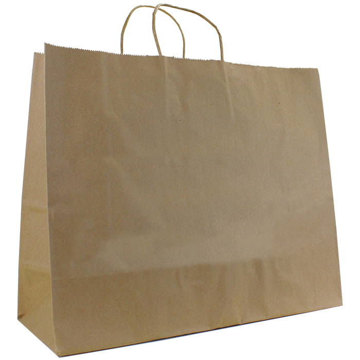 Natural Paper Extra Wide Kraft Paper Shopper Bag