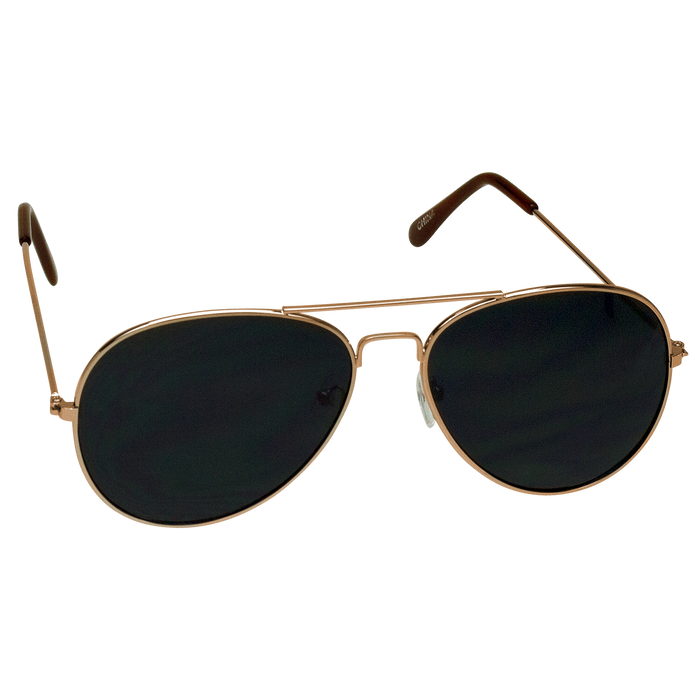 Gold Classic Aviator Sunglasses