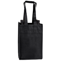 Black 4 Bottle Wine Tote Thumb