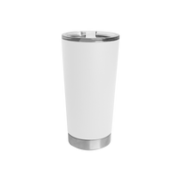 White Small Stainless Steel Insulated Tumbler Thumb