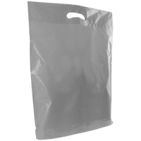 Silver Large Die Cut Plastic Bag Thumb