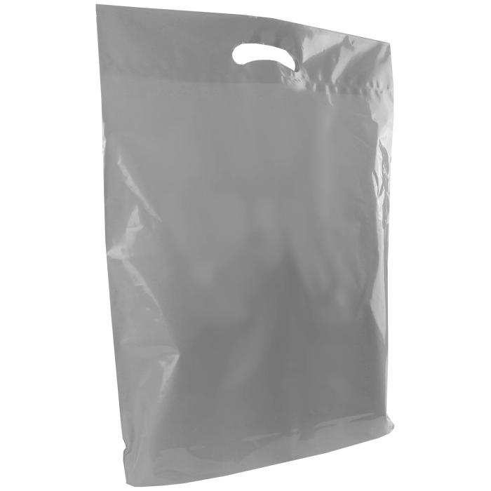Silver Large Die Cut Plastic Bag