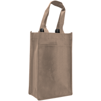 Light Khaki 2 Bottle Wine Tote Thumb
