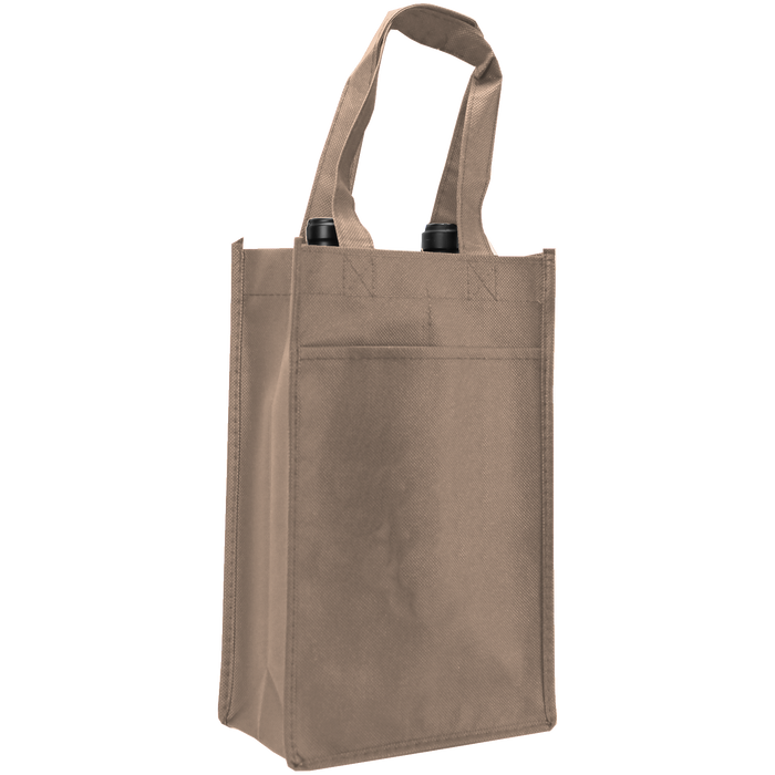Light Khaki 2 Bottle Wine Tote
