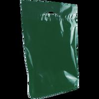 Hunter Green Medium Eco-Friendly Die Cut Plastic Bag Thumb