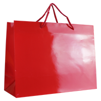 Red Large Glossy Shopper Bag Thumb