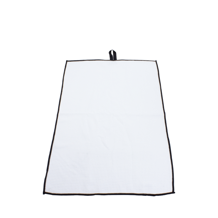 White Small Microfiber Golf Towel