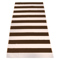 Brown Santa Maria Striped Beach Towel Thumb
