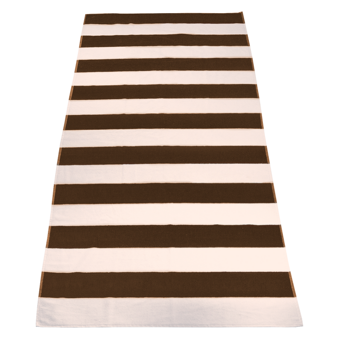 Brown Santa Maria Striped Beach Towel