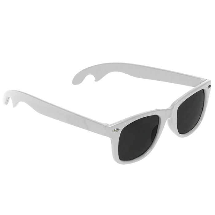 White Panama Bottle Opener Sunglasses