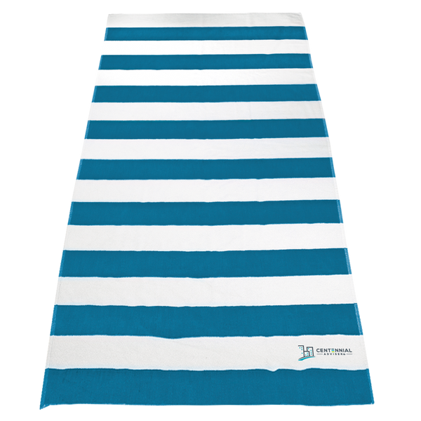 striped beach towels,  embroidery,