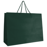 Hunter Green Large Matte Shopper Bag Thumb