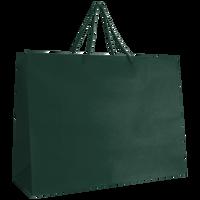 Hunter Green Large Matte Shopper Bag Thumb