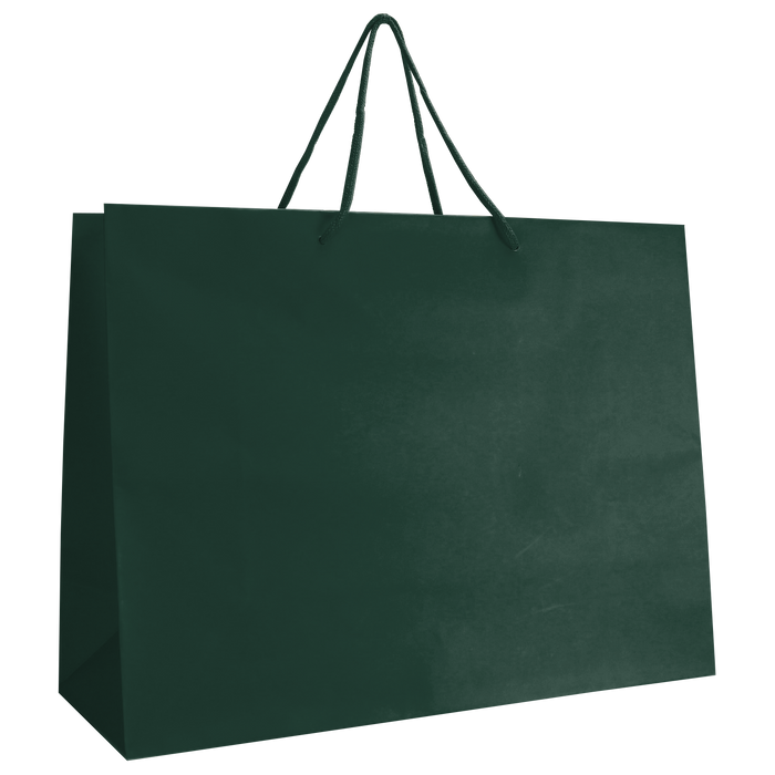 Hunter Green Large Matte Shopper Bag
