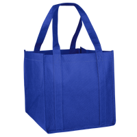 Royal Blue Cube Grocery Tote Thumb