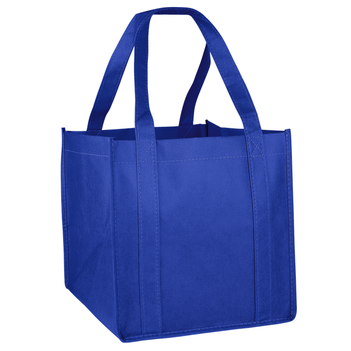 Royal Blue Cube Grocery Tote