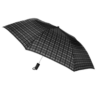 Black Modern Plaid Andromeda Umbrella Thumb