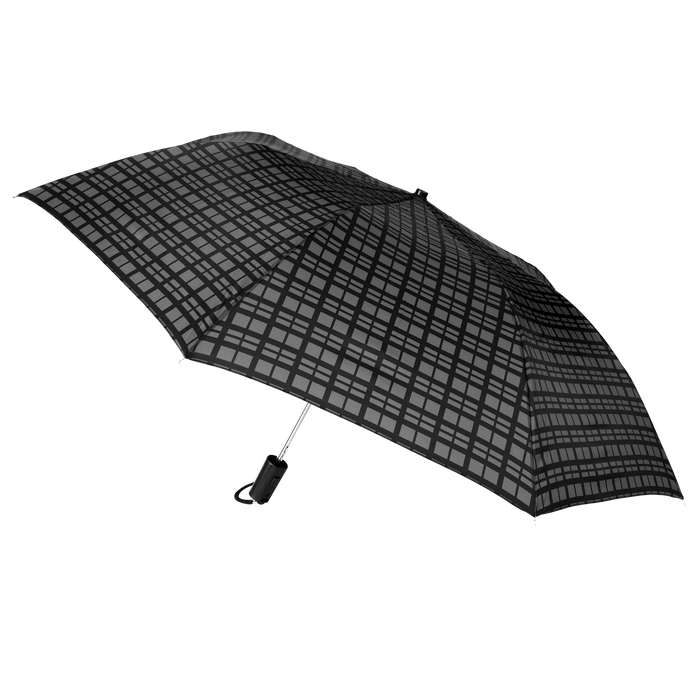 Black Modern Plaid Andromeda Umbrella