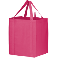 Bright Pink Big Storm Grocery Bag Thumb