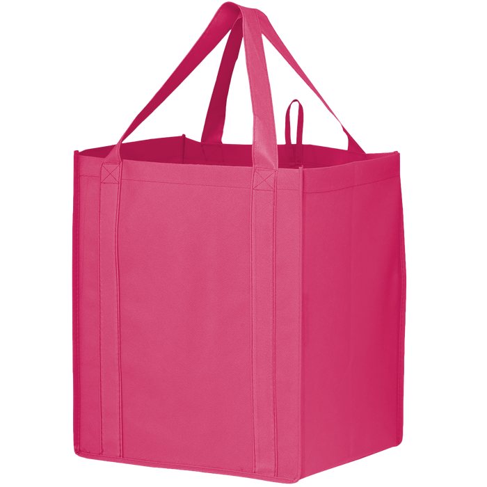 Bright Pink Big Storm Grocery Bag