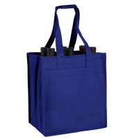 Royal Blue 6 Bottle Wine Tote Thumb