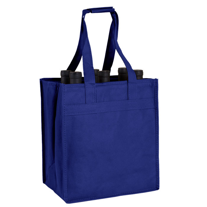 Royal Blue 6 Bottle Wine Tote