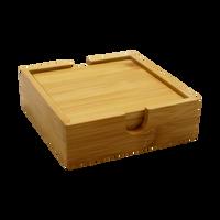 Natural Bamboo Coaster Set Thumb