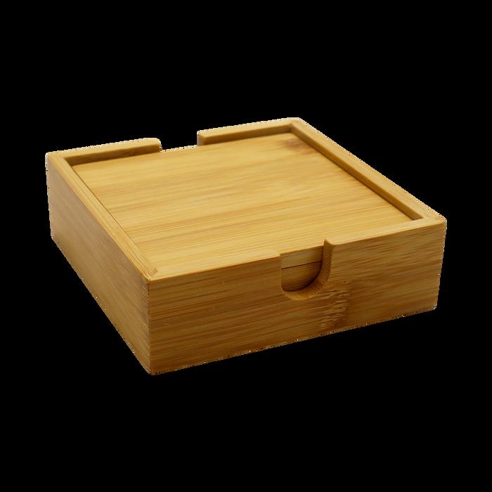 Natural Bamboo Coaster Set