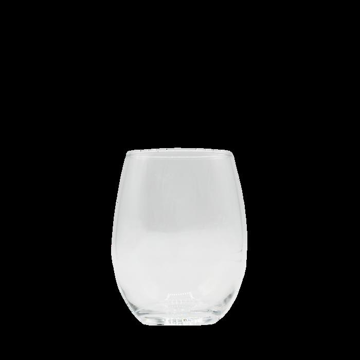 Clear 15 oz. Stemless Wine Glass