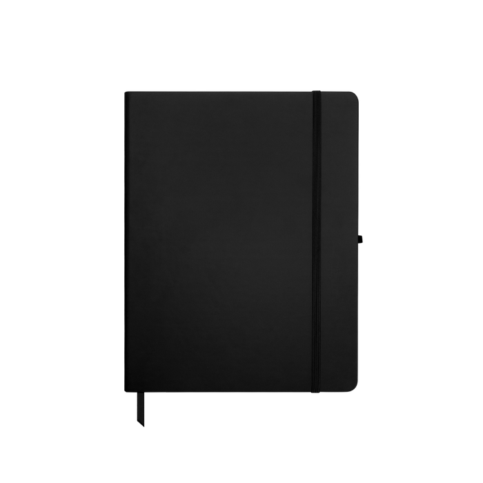 Black Medium Soft Faux Leather Journal