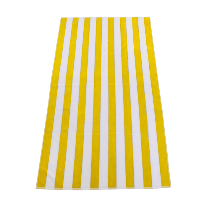 Yellow Latitude Striped Beach Towel