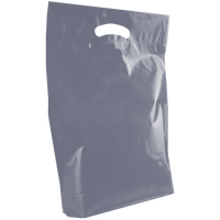 Silver Medium Die Cut Plastic Bag Thumb
