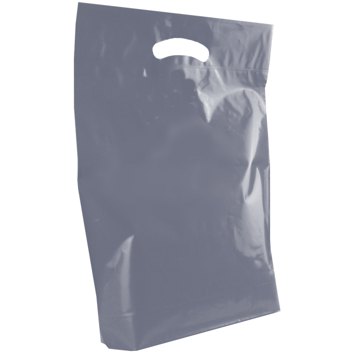 Silver Medium Die Cut Plastic Bag