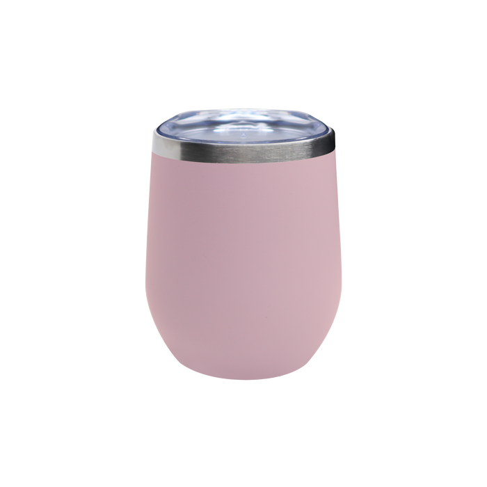Matte Blush Vacuum Insulated Stemless Wine Tumbler