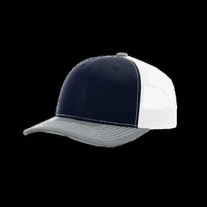 Navy/Grey/White Richardson Trucker Snapback Hat
