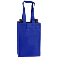 Royal Blue 4 Bottle Wine Tote Thumb