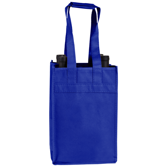 Royal Blue 4 Bottle Wine Tote