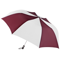 Burgundy/White Stratus totes® Umbrella Thumb