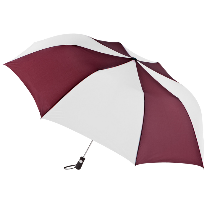 Burgundy/White Stratus totes® Umbrella