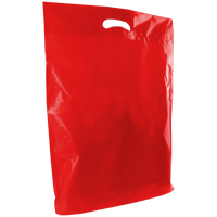 Red Large Die Cut Plastic Bag Thumb