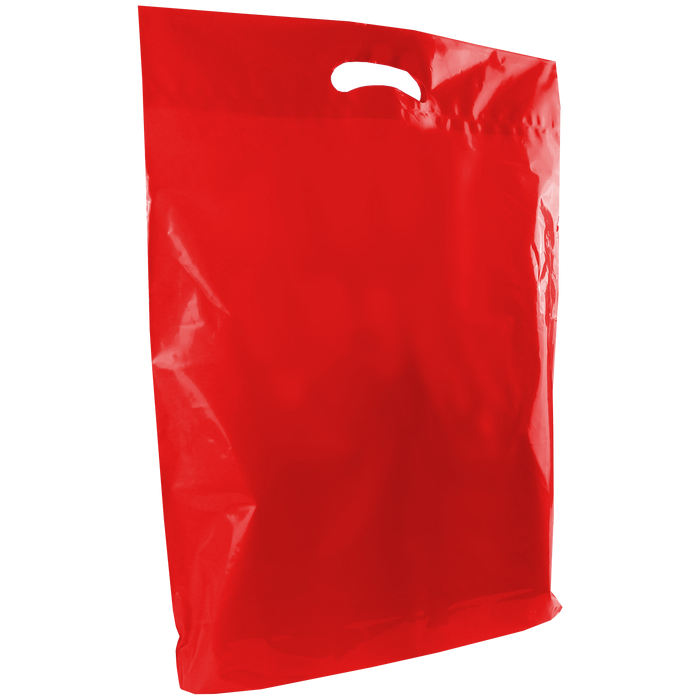 Red Large Die Cut Plastic Bag