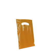 Orange Extra Small Eco-friendly Die Cut Plastic bag Thumb