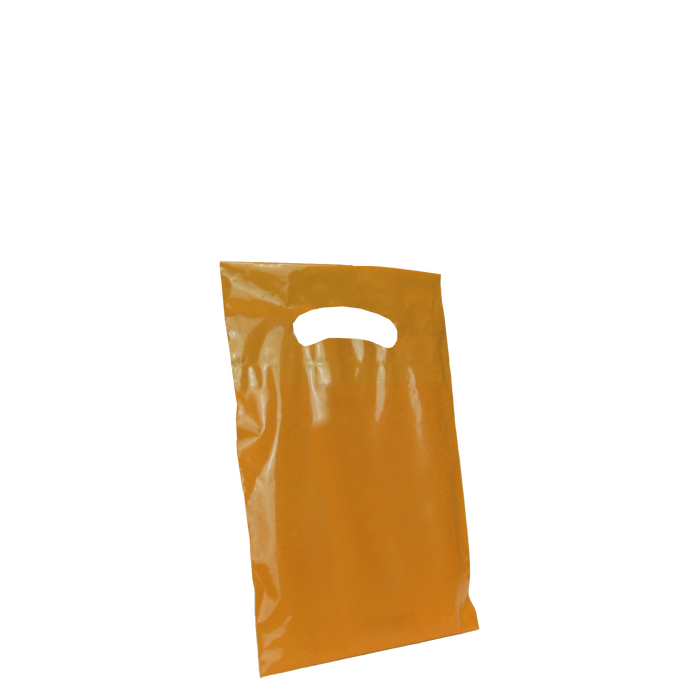 Orange Extra Small Eco-friendly Die Cut Plastic bag