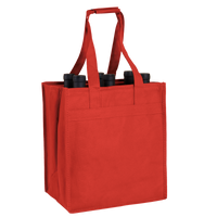 Red 6 Bottle Wine Tote Thumb