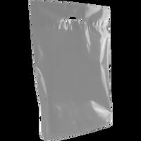 Gray Medium Eco-Friendly Die Cut Plastic Bag Thumb