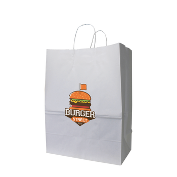 Large White Paper Shopper Bag