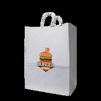 Large White Paper Shopper Bag Thumb
