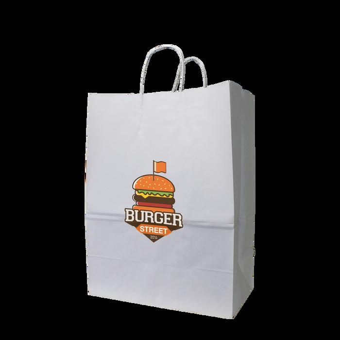 Large White Paper Shopper Bag