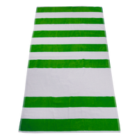 Lime Green Horizon Striped Beach Towel Thumb